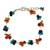 Multi-gemstone beaded bracelet, 'Everlasting' - Hand Made Beaded Calcite and Garnet Bracelet from Thailand (image 2a) thumbail