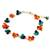 Multi-gemstone beaded bracelet, 'Everlasting' - Hand Made Beaded Calcite and Garnet Bracelet from Thailand (image 2b) thumbail