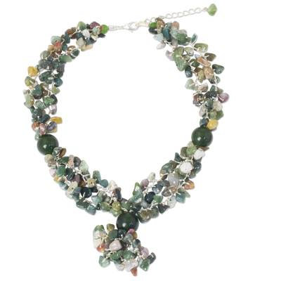 Handmade Beaded Multigem Necklace Thai Fair Trade Jewelry
