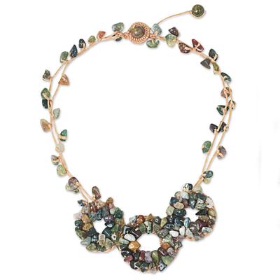 Fair Trade Jasper and Unakite Handmade Beaded Necklace