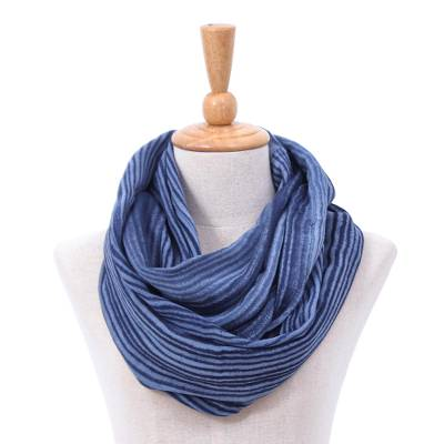 Cotton infinity scarf, Foggy Night