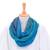 Cotton infinity scarf, 'Seaside Breezes' - Artisan Crafted 100% Cotton Infinity Scarf from Thailand (image 2c) thumbail