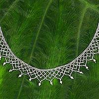 Sterling silver choker, 'Princess Garland' - Thai Handcrafted Sterling Silver Choker Necklace
