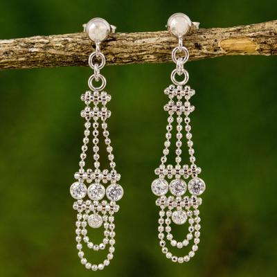 Cubic Zirconia Chandelier Earrings Dangling Chandeliers Post From