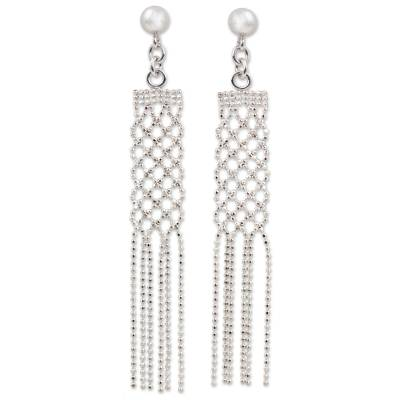 Sterling Silver Waterfall Earrings on Posts from Thailand