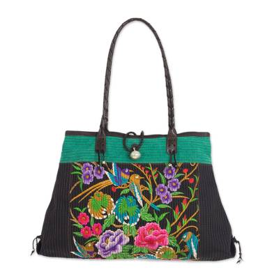Artisan Crafted Cotton Shoulder Bag with Embroidery