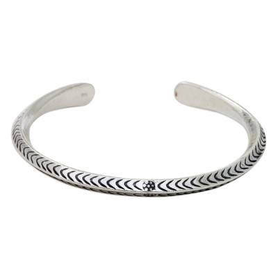 925 Sterling Silver Cuff Bracelet Hand Made in Thailand
