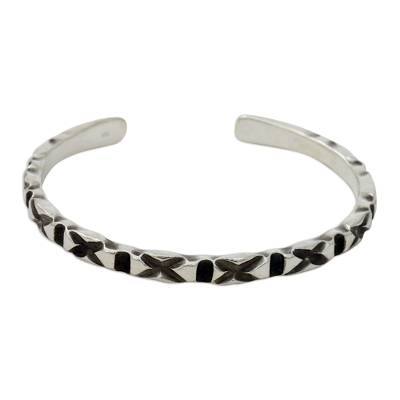 Hand Crafted Hill Tribe Sterling Silver Cuff Bracelet