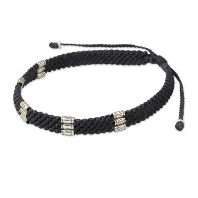 950 Silver Accent Wristband Bracelet from Thailand