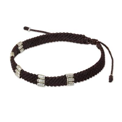 Silver Accent Wristband Bracelet from Thailand
