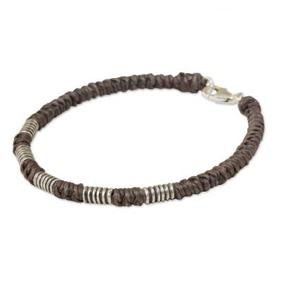 Sterling Silver Wristband Braided Bracelet from Thailand