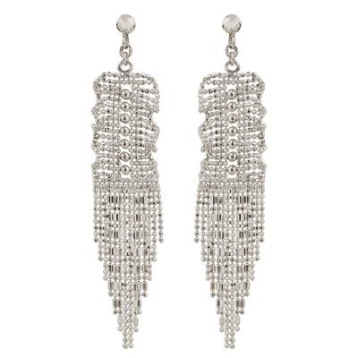 Thai Handcrafted Sterling Silver Waterfall Earrings
