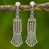 Sterling silver dangle earrings, 'Romantic Evening' - Original Sterling Silver Artisan Crafted Earrings