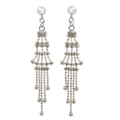 Sterling Silver Multi Layer Waterfall Earrings Thailand