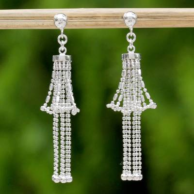 Sterling silver chandelier earrings, Precious Lily