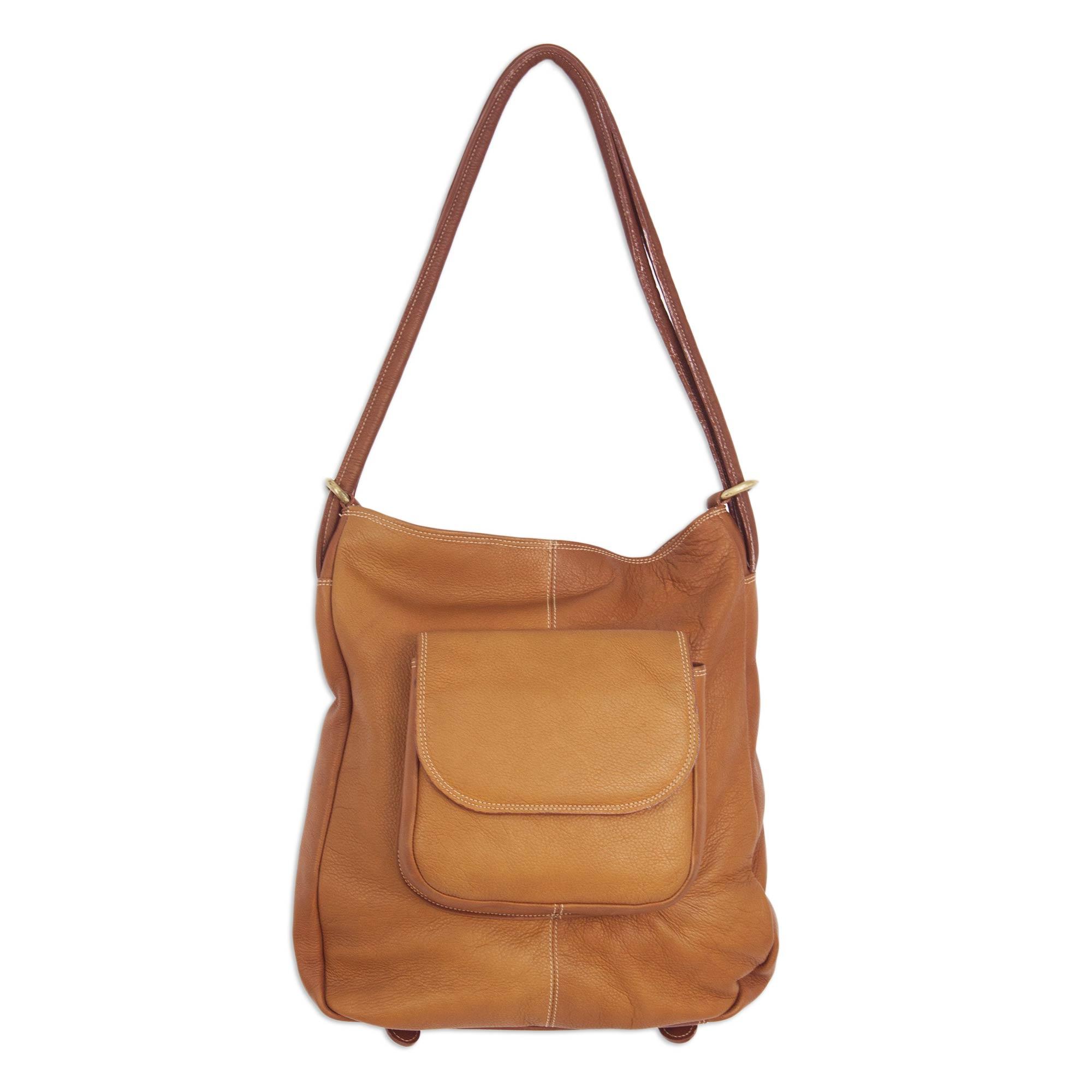 Novica Leather shoulder bag, Easy Journey