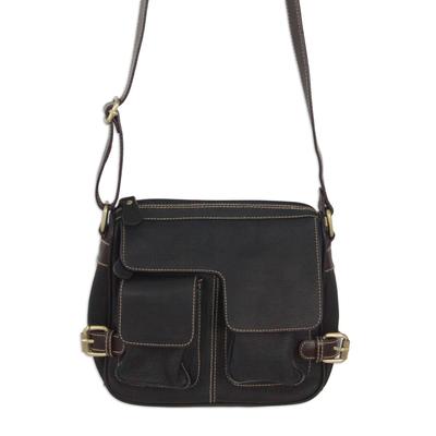 Novica Leather shoulder bag, Accomplished
