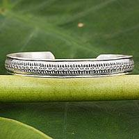Featured review for Sterling silver cuff bracelet, Hill Tribe Hope