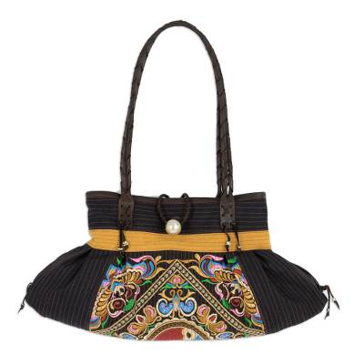 Colorful Artisan Crafted Embroidered Cotton Shoulder Bag