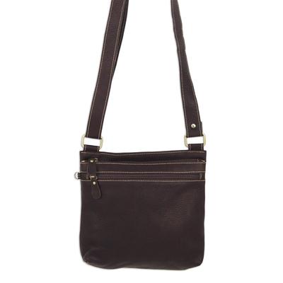 Novica Leather shoulder bag, Ready in Black