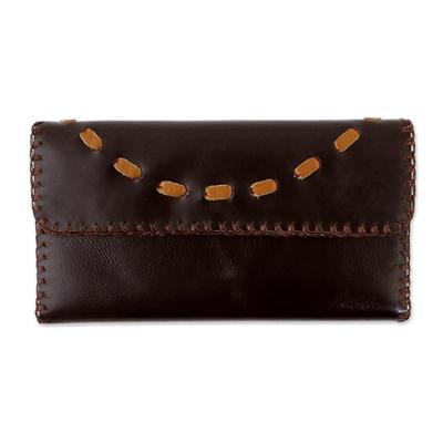 Novica Leather backpack, Simple Traveler