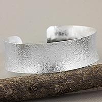 Silver cuff bracelet, 'Karen Silver Elegance'