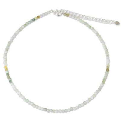 Jade beaded necklace, 'Attraction Continuum' - Asian Jade Beaded Artisan Crafted Necklace from Thailand