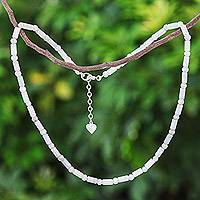 Jade beaded necklace, 'Dance of Attraction' - Fair Trade Asian Jade Artisan Crafted Beaded Necklace