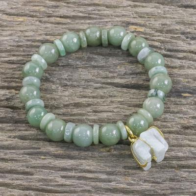 Unicef Market Jade Beaded Bracelet Handmade In Thailand