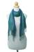 Silk scarf, 'Elusive Summer' - Hand Woven Silk Scarf in Teal Celadon Azure from Thailand (image 2c) thumbail
