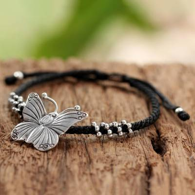 Silver pendant bracelet, The Butterfly