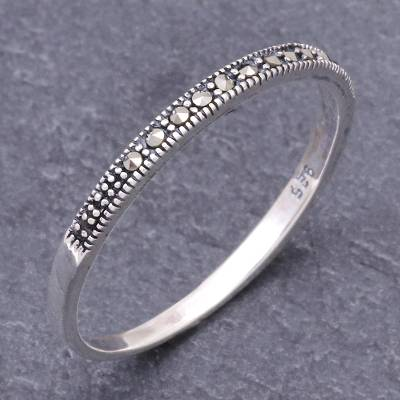 Marcasite band ring, Glistening Road