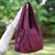Cotton shoulder bag, 'Thai Texture in Wine' - 100% Cotton Textured Shoulder Bag in Wine from Thailand (image 2b) thumbail