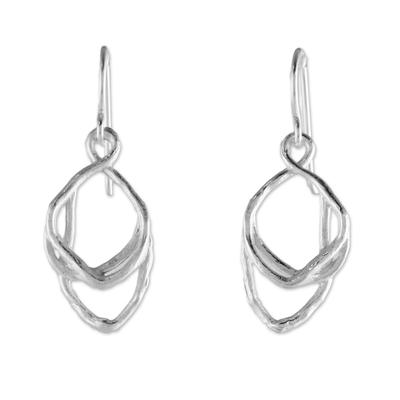 Sterling silver dangle earrings, 'Charming Drop' - Sterling Silver Dangle Earrings from Thailand
