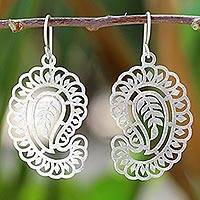 Sterling silver dangle earrings, 'Bright Paisleys' - Sterling Silver Paisley Dangle Earrings from Thailand