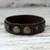 Men's jasper and leather wristband bracelet, 'Rock Party' - Handmade Men's Jasper & Leather Bracelet from Thailand (image 2c) thumbail