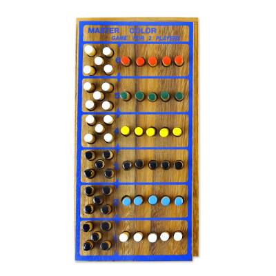 Wood game, 'Code Breaker' - Hand Made Colorful Wood Peg Game from Thailand