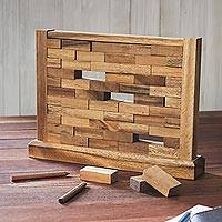 Wood game, Stacking Wall