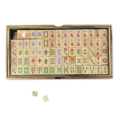 Wood game, 'Mah Jongg' - Hand Made Wood Mah Jongg Game from Thailand