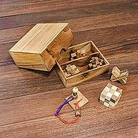 Wood puzzles, 'Mini Puzzles' (set of 6)