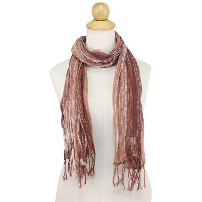 Batik tie-dyed cotton scarf, 'Speckled Field in Rosewood' - Batik Tie-Dyed Cotton Scarf in Rosewood from Thailand