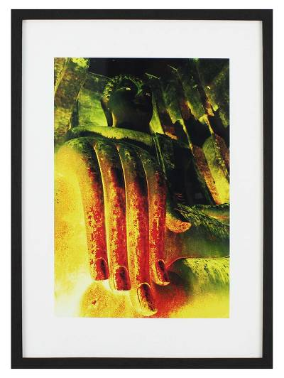 Phra Acana Buddha Color Photograph Framed with Glass Pane ...