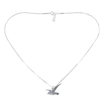 Flying Martin Bird Sterling Silver Necklace from Thailand