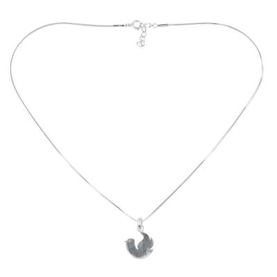925 Sterling Silver Dove Pendant Necklace from Thai Jewelry
