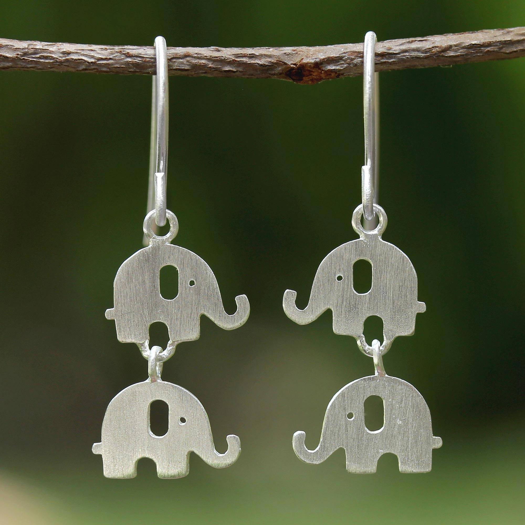 925 Sterling Silver Elephant Ear Studs So Chic Jewels