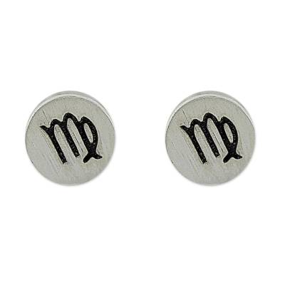 Sterling Silver Virgo Stud Earrings from Thailand