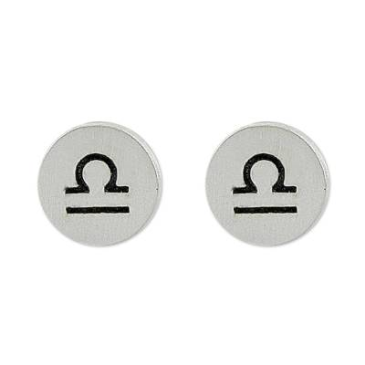 Sterling Libra Capricorn Stud Earrings from Thailand