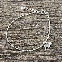 Featured review for Silver beaded bracelet, Pachyderm Charm