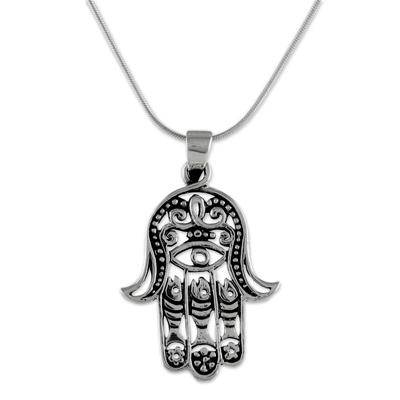 Jewels Obsession Chamsah Pendant 30 mm Sterling Silver 925 Chamsah Pendant