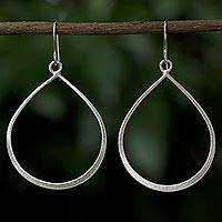 Sterling silver dangle earrings, 'Shimmering Drops' - Sterling Silver Dangle Earrings from Thailand